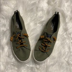 Sperry top-sider green tennis shoes